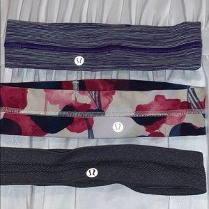 3 lululemon headbands